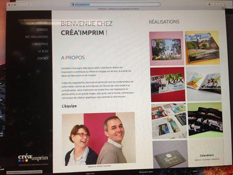 Site web Crea'Imprim