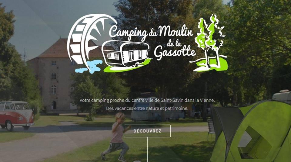 Page accueil site web Camping du Moulin de la Gassotte