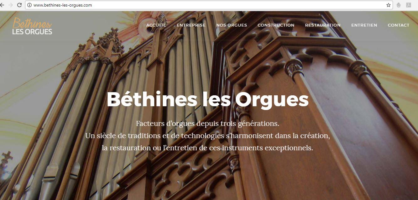 Page accueil du site Bethines les Orgues