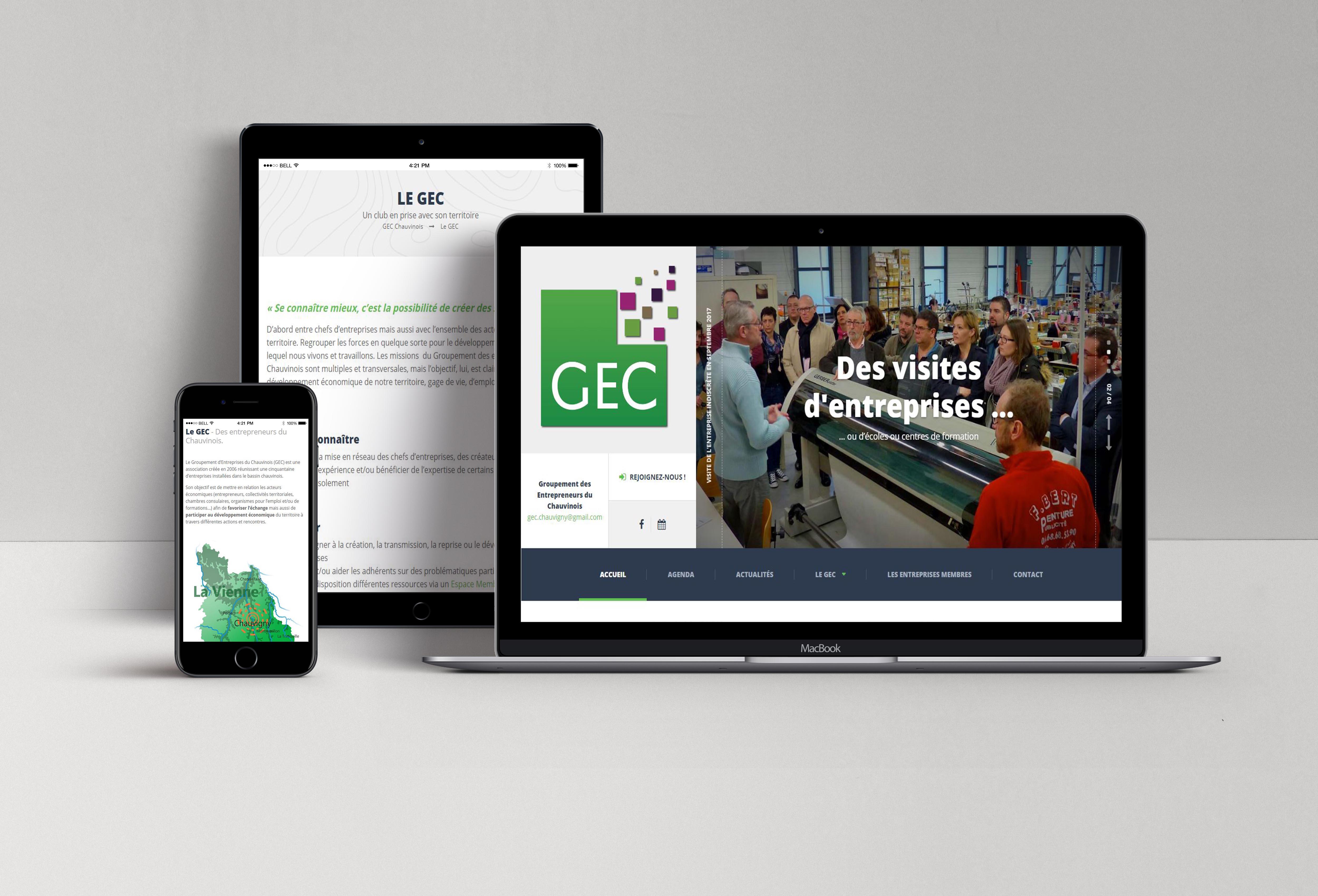 Site du GEC by LS Com' & Mila Web Design