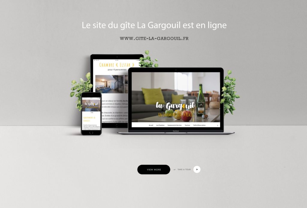 site web La Gargouil - Rédaction LS Com' - Conception Mila WebDesgn
