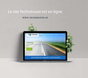 Site Techniroute réalisé par LS Com et Mila Weiweiller