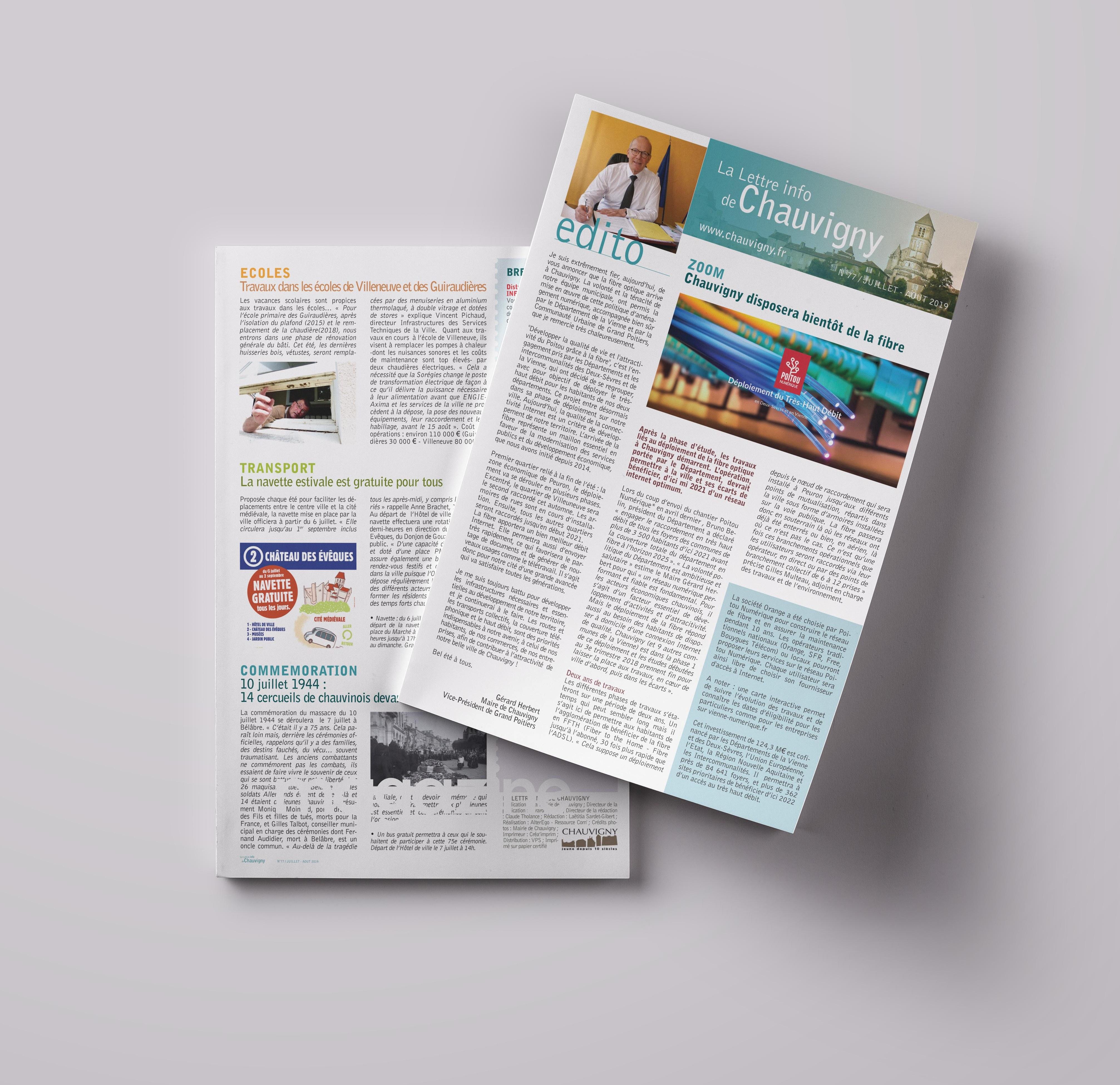 Lettre d'information de la ville de Chauvigny - juillet 2019