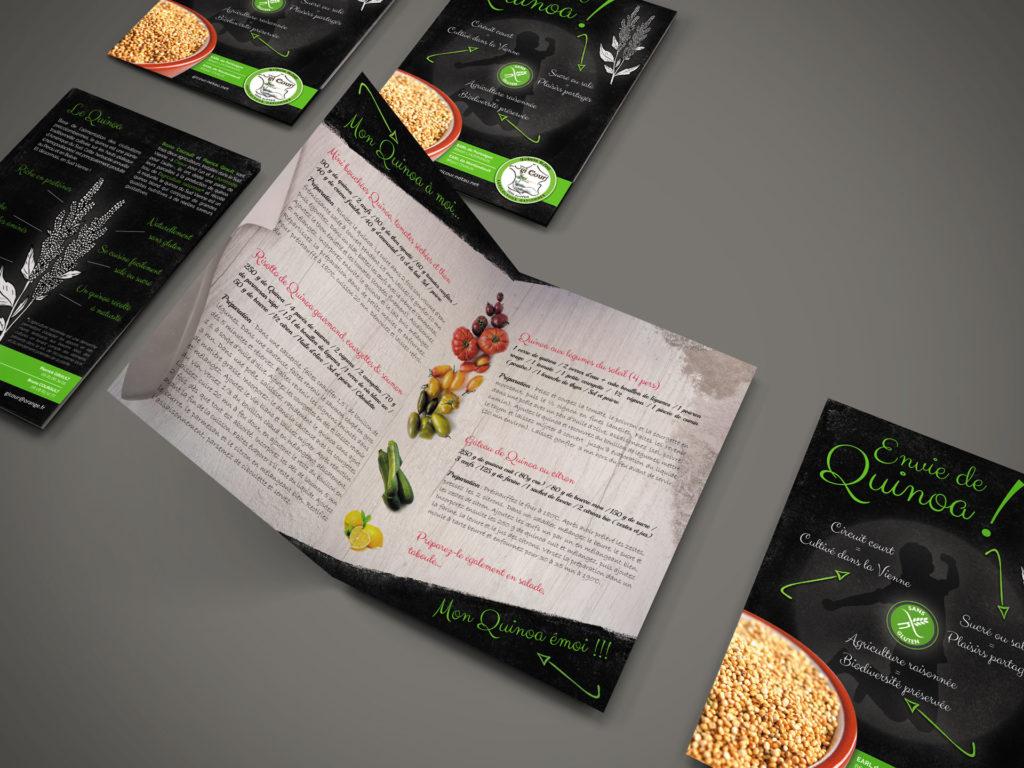 plaquette commerciale du Quinoa Gicour,
