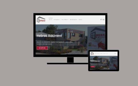 Site web Entreprise Hebras - Rédaction by LS Com' - Conception MilaWebDesign