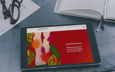 Site-Web-Sandrine-Peumery-Reflexologue - Rédaction by LS Com' - Conception MilaWebDesign